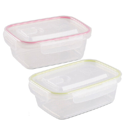 [当当自营]Lustroware 原装进口保鲜盒饭盒便当盒 2P 900ml 粉/绿色