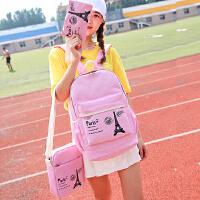 新款双肩包女包韩版时尚百搭高初中学生书包学院风潮流大旅行背包
