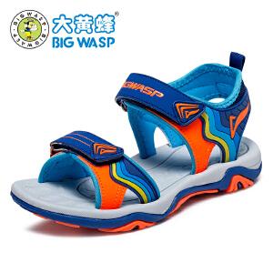 大黄蜂童鞋 2017新款夏季男童凉鞋 儿童沙滩鞋中大童休闲3-5-12岁