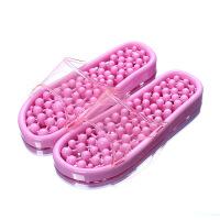 浴室拖鞋家用按摩拖鞋穴位足底男女漏水洗澡塑料凉拖鞋女夏季