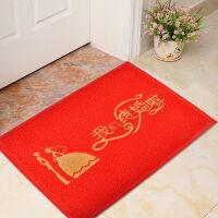御目 婚庆进门地垫 结婚家用脚垫玄关垫结婚庆用品PVC塑料拉丝圈地垫地毯家居用品