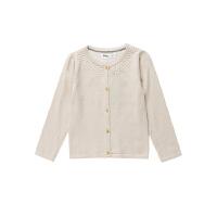 【3件3折 到手价:47.7元】水孩儿(SOUHAIT)女童装素色纯棉开衫针织长袖线衣外套AMECH201