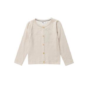 【双十二狂欢】水孩儿souhait女童装素色纯棉开衫针织长袖线衣外套AMECH201