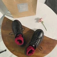 ins小皮鞋女2019秋季新款学生韩版百搭学院英伦风布洛克复古单鞋