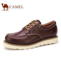 camel 骆驼男鞋 秋季新款工装男鞋百搭时尚舒适牛皮男士休闲鞋