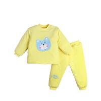 婴儿棉衣套装男女宝宝保暖内衣裤夹棉秋冬季棉袄