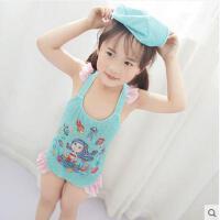 夏日海边温泉女童游泳衣女中小童连体公主美人鱼儿童泳衣