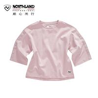 【品牌特惠】NU诺诗兰户外春夏季休闲女式运动衫圆领卫衣KL072116