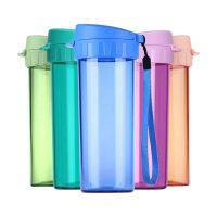 特百惠水杯茶韵随手杯子便携防漏塑料大容量男女学生儿童运动茶杯380ML