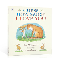 �M口英文原版 Guess How Much I Love You 猜猜我有多�勰闫窖b �L本英�Z�D����Sam McBrat