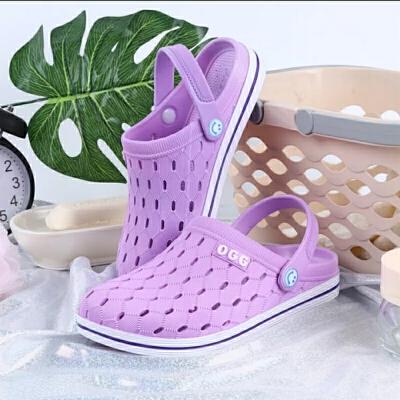 拖鞋女夏外穿沙滩鞋洞洞鞋女韩版学生情侣防滑舒适镂空透气凉鞋男