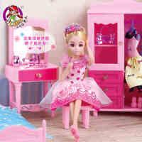 乐吉儿芭比娃娃套装大礼盒梦幻房间衣服换装衣橱女孩公主生日礼物