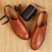 豆豆鞋男夏季新品牛皮皮鞋时尚休闲皮鞋商务鞋正装鞋