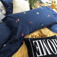 【人气】ins风床单四件套网红款少女心学生1.8m全棉纯棉被套床上用品4件套
