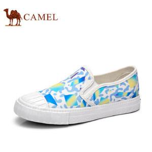 骆驼牌 女鞋新款低帮涂鸦帆布鞋女时尚平跟休闲百搭