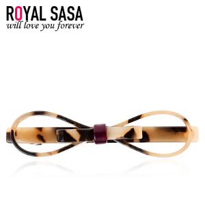 皇家莎莎RoyalSaSa横夹豹纹发夹人造水晶发卡子韩国刘海头饰弹簧夹马尾发饰品HFS509483