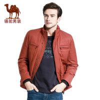 camel 骆驼牌男装棉服 冬季时尚立领商务休闲外套纯色棉衣男