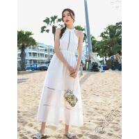 连衣裙2018夏季挂脖露肩性感长裙波西米亚度假沙滩裙女 图片色