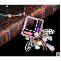 潮流个性夸张精致结实复古时尚珍珠女流苏项链吊坠配饰