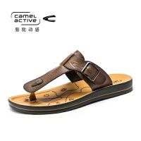 骆驼动感(camel active)夏季休闲夹趾人字拖沙滩鞋