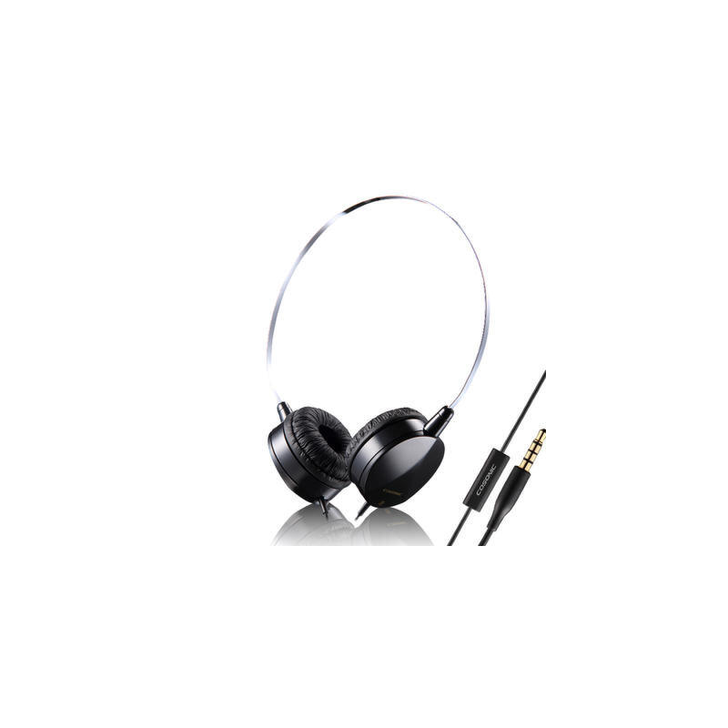 时尚便携线控头戴式耳机 多彩配色 清晰通透 立体声运动防汗耳机带麦智能兼容 佩戴舒适