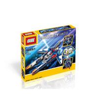 古迪创意空间战斗机 启蒙益智组装拼插拼装塑料3变积木玩具8115