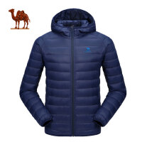 camel/骆驼运动羽绒服女 轻薄修身保暖羽绒衣时尚休闲连帽短款外套男冬
