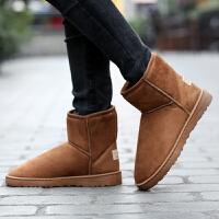 冬天穿的鞋子中老年男士加绒加厚保暖棉靴户外防滑耐磨雪地靴老人妈妈防滑棉鞋女东北加厚情侣款