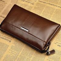男士手包商务手抓包软皮手拿包头层牛皮大容量夹包男包夹包