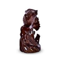 双鱼年年有鱼客厅书房工艺礼品摆件红木质百财铁花梨动物木雕