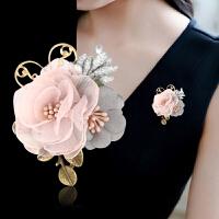 胸针胸花娟纱花朵春季披肩扣连衣裙外套气质别针配饰品