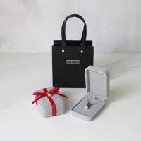 简约复古灰色牛饰品盒戒指耳钉手链吊坠项链北欧首饰礼品包装盒子