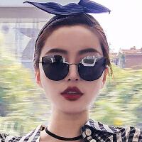 太阳镜女潮街拍复古原宿风ins同款墨镜长脸眼镜
