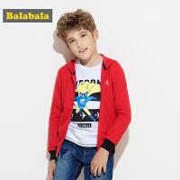 巴拉巴拉童装男童外套中大童外衣秋装新款连帽长袖儿童卫衣潮