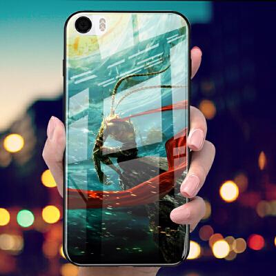 小米5手机壳5X软硅胶5S玻璃壳5SPLUS全包边防摔保护套男女款个性