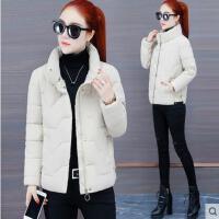 冬季外套新款韩版宽松加厚羽绒小棉袄面包服白色棉衣棉服女