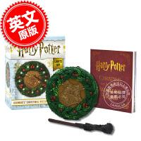现货 英文原版 哈利波特周边 霍格沃茨圣诞花环魔杖套装 Harry Potter: Hogwarts Christma