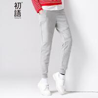 【品牌盛典 2件5折】初语春季新款 卫衣裤小哈伦休闲裤女8631901038