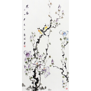 国家一级美术师 盛昭《 紫韵》 50*100cm