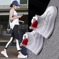 女鞋真皮高帮鞋女系带运动鞋嘻哈街舞女板鞋女学生鞋时尚流行