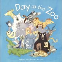 Day at the zoo 动物园的 词汇启蒙 睡前读物 幼儿早教绘本 大开本设计 趣味插图 押韵文字 亲子读物 3-