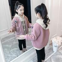 女童套装秋冬儿童秋装外套女孩卫衣两件套潮