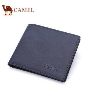 Camel骆驼钱包2017新款男士横款钱夹轻柔牛皮男钱包青年卡包