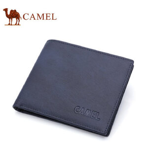 Camel骆驼钱包新款男士横款钱夹轻柔牛皮男钱包青年卡包