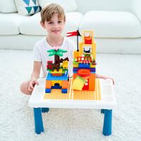 大小颗粒积木桌画板可收纳桌宝宝餐桌作业桌3岁+儿童玩具