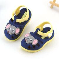 1 2 3岁宝宝凉鞋公主夏季机能婴幼儿学步鞋软底包头男女儿童胶鞋