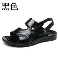 头层牛皮凉鞋男士软底夏季沙滩鞋男大码爸爸皮凉拖鞋男士夏天