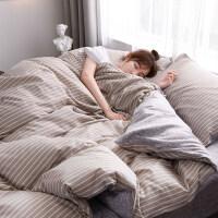 网红款四件套纯棉床上用品公主风被套床单床笠三件套被单被子
