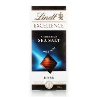 德国进口 瑞士莲 特醇排装 海盐味黑巧克力100g