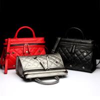 艾欧尼莎 2018新款欧美时尚真皮女包女士牛皮包包单肩包手提包箱包